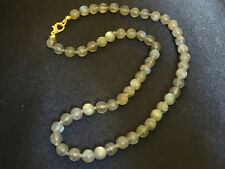Kette Lapradorit Perlen Stein Halskette Collier Kugeln Perle Heilstein Spektroli