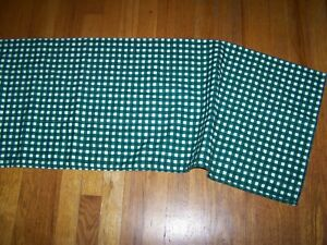 WAVERLY GREEN & WHITE CHECKED WINDOW VALANCE
