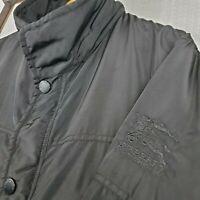 BURBERRY LONDON Size XL Mens Black Full Zip + Snap Tactical Jacket Coat Poly
