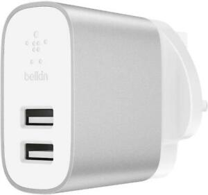 Belkin Boost Charge 24W Dual USB-A Wall Charger fir iPhone iPad Samsung Google