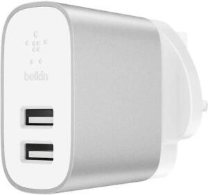 Belkin Boost Charge 24W Dual USB-A Wall Charger fir iPhone iPad Samsung Google