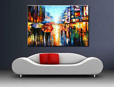 Huge Modern Abstract Wall Art Hand Oil Painting On Canvas,After rain(No Frame)