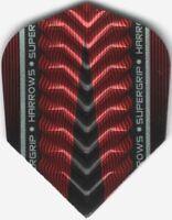 Red HARROWS SUPERGRIP-X Dimplex Ribs Dart Flights: 3 per set