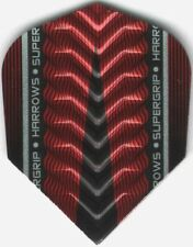 Red HARROWS SUPERGRIP-X Dimplex Ribs Dart Flights: 3 per set
