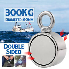 660LBS 60mm Round Strong Neodymium Magnet Double Side Combined Pulling Force Hot