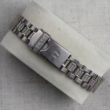 Original two tone TISSOT Titanium watch bracelet - 1990s - Swiss made - 14mm
