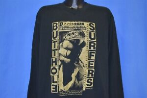 vtg 90s BUTTHOLE SURFERS INDEPENDENT WORM SALOON PUNK SNAKE JAPANESE t-shirt XL