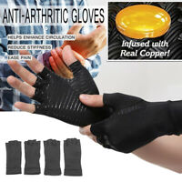1 par Anti Artritis Copper Compression Terapia Dedos Guantes Sin Dolor Alivio