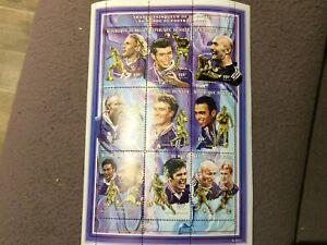 Niger planche de timbres vainqueurs Coupe du Monde Football 1998