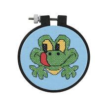 Cross Stitch 'Learn a Craft' Kit ~ Friendly Green Frog KIDS & BEGINNERS #72531