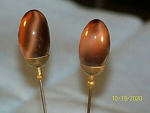 Vintage Lot Of 2 Matching Hat Pins Stick Pins