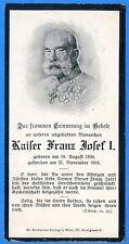 Kaiser Franz Josef - Sterbebild