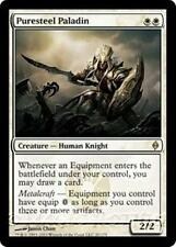 PURESTEEL PALADIN New Phyrexia MTG White Creature — Human Knight RARE