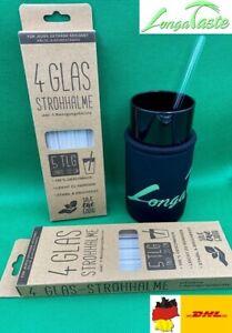 Glasstrohhalm + Reinigungsbürste Glas Strohhalm Cocktail Trinkhalm
