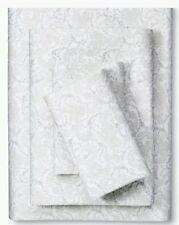 New Simply Shabby Chic Floral Stitch Vine 4 Pc Full Sheet Set GRAY WHITE NEW