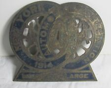New York Automobile Association Member at Large License Plate Topper 1914