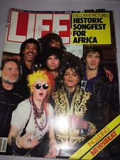 LIFE MAGAZINE '85 HISTORIC SONGFEST FOR AFRICA INCLUDES MICHAEL JACKSON & OTHERS