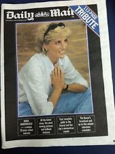 London Daily Mail 112 page tribute to Diana full page poster type photo
