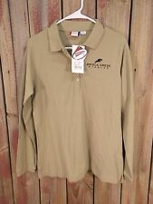 Bridle Creek Stables Polo Shirt Tan Long Sleeve Men's Size Large NWT