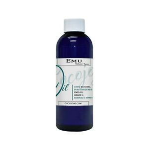 4 oz 100% Pure Organic EMU OIL Natural Australian 3 time REFINED MOLECULAR FILTR