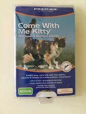 Premier Come with me kitty Harness and bungee leash medium red