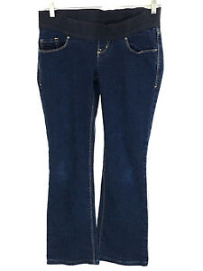 Old Navy 2R Maternity Jeans Low Rise Knit Panel Boot Cut Stretch Women 2 Regular