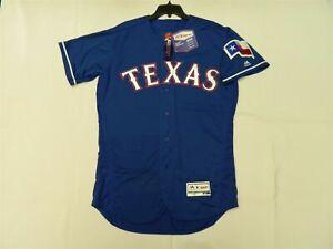 Majestic AUTHENTIC 54 3XL Texas Rangers BLUE ON FIELD FLEX BASE Jersey SHARP!