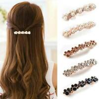 Elegant Hair Barrette Clip French Clips Women Barrettes Slides Crystal Hairpin
