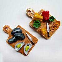 Chopping Board Food Fridge Magnet Resin Kitchen Refrigerator Magnets Home Decor