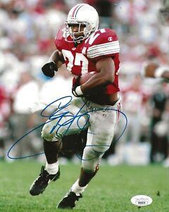 Eddie George Titans signed Ohio State Buckeyes 8x10 photo autographed JSA
