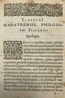 1594 L. Apulei Madaurensis Apologia. Isaacus Casaubonus recensuit, by Apuleius