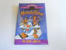 VINTAGE PROMO PINBACK BUTTON #93-076 - DISNEY - MELODY TIME