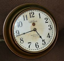 Vtg 1920s Telechron Wall Clock Waren Clock Co Ashland Mass