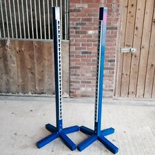 **Pair** of Show Jump Training Jump Stands / Wings - For Show jumping - Blue