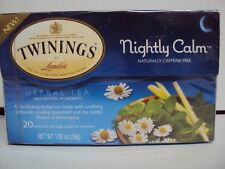 "1 BOX TWININGS ""NIGHTLY CALM"" HERBAL TEA (CHAMOMILE, SPEARMINT, LEMON GRASS)"