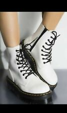 NEW in Box Jadon White Platform Doc Martens Polished Smooth Women 7 Men 6