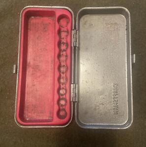 "Vintage Craftsman 1/4"" Drive =V=  Socket Set Box. BOX ONLY .USA"