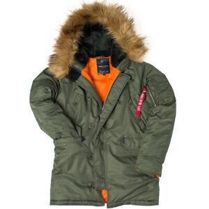 N3B Parka Army Long Military Style Pilot Snorkel Padded Winter Hood Jacket Coat