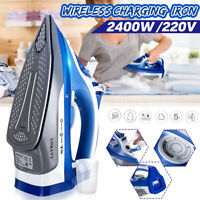 2400W Electric Cordless Iron Steamer Clothes Ironing Wireless Ceramic Machine