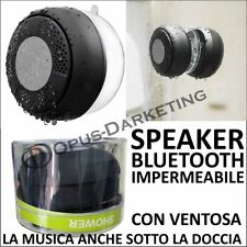 IMPERMEABILE CASSA SPEAKER BLUETOOTH DOCCIA PER SAMSUNG IPHONE HUAWEI HTC WIKO