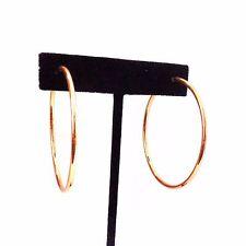 CLIP-ON EARRINGS ORANGE SHINY HOOPS  2 INCH HOOP EARRINGS THIN NON PIERCED