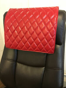 """14""""x 30"""" RED Recliner, leather damage, sofa, arm rest, furniture protector"""