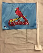 NEW Vintage Style Blue W Birds On Bat Official. MLB ST. LOUIS CARDINALS CAR FLAG