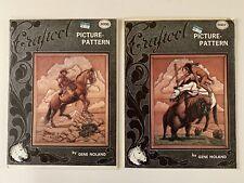 Craftool Leather Picture Patterns 6006 Cattleman & 6007 Buffalo Brave Gene Nolan