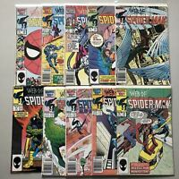 Lot of 20 Web of Spider-Man (1985 1st Series) from #3-35