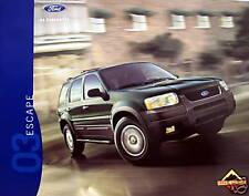 2003 Ford Escape SUV new vehicle brochure