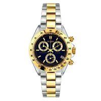 Vetania Grand Prix Swiss Quartz Chrono Men's Two-tone St. Steel Blue Dial Watch