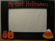 MY FIRST HALLOWEEN - personalized baby holiday pumpkin ghost photo picture frame