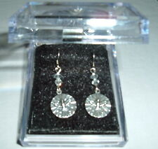 HOLY SPIRIT Earrings with 2 Clear Crystals NIB Holy Trinity Italy Confirmation