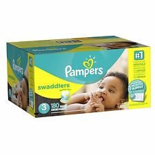 Pampers Swaddlers Diapers Size 3 180 Count (One Month Supply)